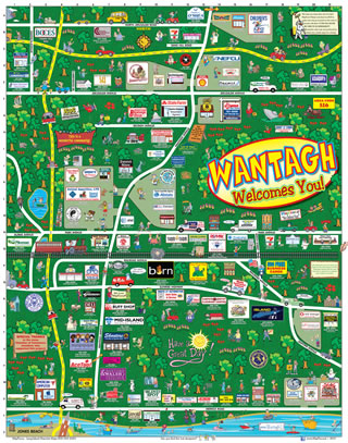 Wantagh, Long Island, MapToons Map