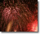 Fireworks at Fishing Pier 10, Wantagh, Long Island, Copyrighted 2008 by David Lepelstat