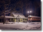 Wantagh Train Museum in Winter, Photo by Bob Shaw