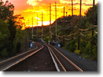 LIRR Tracks in Wantagh at Sunset - Photo by Sean Fitzthum