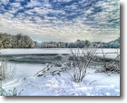 Mill Pond in Winter, Wantagh, Long Island - Photo by David Lepelstat